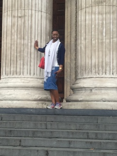 Me at the front columns